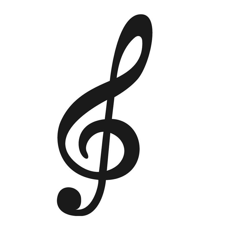 Dctop Gran Tamaño Clef Agudo De La Nota Musical Tatuajes De Pared De