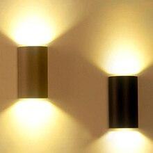 6 Вт 10 Вт черный светодиодный настенный светильник, уличный водонепроницаемый IP65 Алюминиевый Современный декоративный ландшафтный светильник для парка, комнаты, крыльца, сада, лампа серого цвета