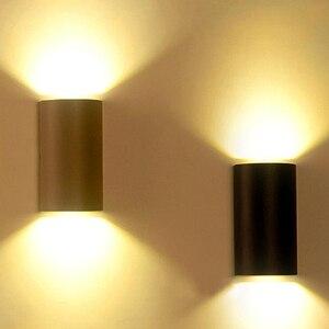 6W 10W Black LED Wall Light Ou