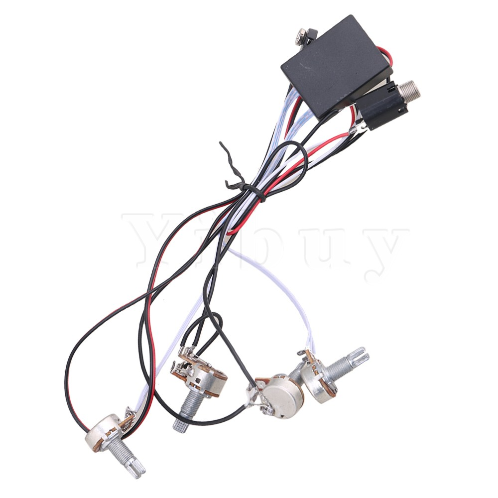Yibuy 2 Band Eq Preamp Circuit For Active Bass Pickup Amplifying Sss Wiring Diagram In Guitar Parts Accessories From Sports Entertainment On