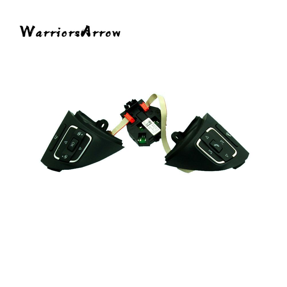 WarriorsArrow MFSW Steering Wheel Button Switch Module For VW Jetta MK6 Touran Caddy Tiguan EOS CC