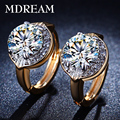 wholesale Gold Plated Earings CZ diamond AAA zircon fashion Jewelry for women wedding hoop earrings  LSE019