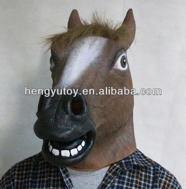 2014 Genuine horse Mask Whoot Aswesome promotion item Rubber Fancy Dress Chrismas Gift image