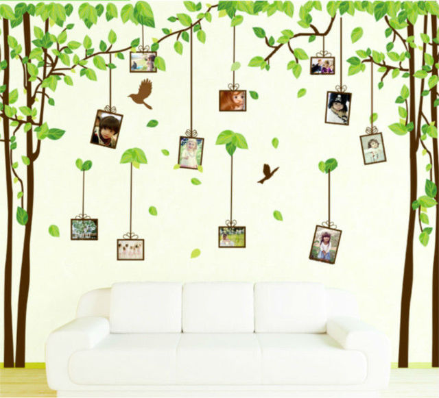Amazing Family Photo Frame Tree Bird Home Decoration Large Wall Decals Furniture  Decor Wall Art Paper Bathroom