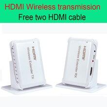 30 м HDMI Беспроводной передачи Extender 98ft передатчик и приемник Поддержка HDMI 1.4 HDCP 1.4 3D 1080 P Бесплатная два Кабель HDMI