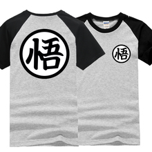 Dragon Ball Z clothing raglan sleeve Vegeta Goku cotton t shirt (6 colors)