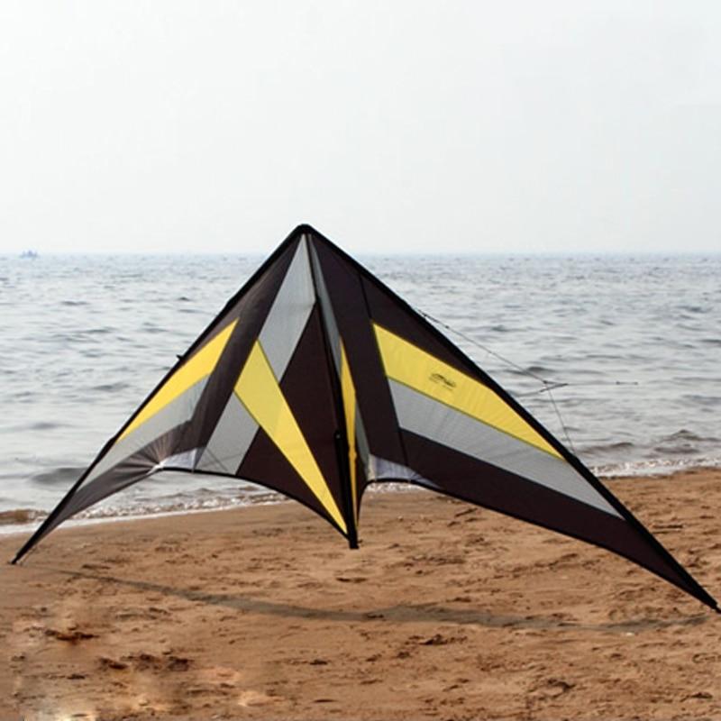Открытый Игрушечные лошадки весело 8.2ft двойной линии трюк кайт Сокол Балетные костюмы Командные виды спорта кайт пляже Летающий Мощность з