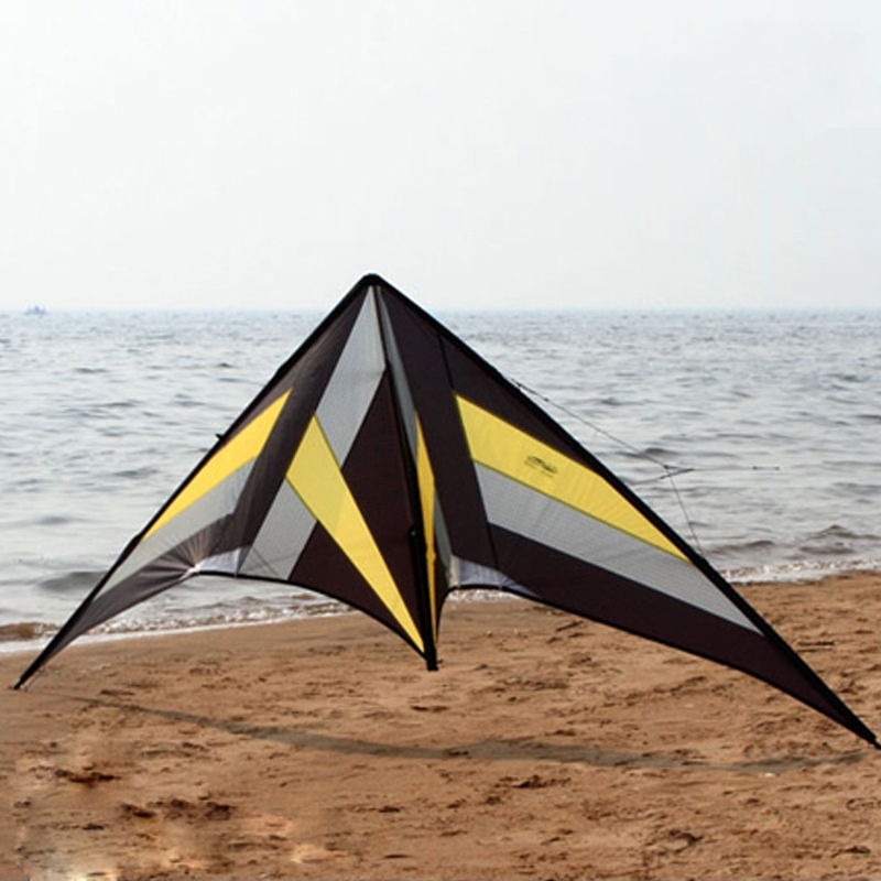 Outdoor Toys Fun 8.2ft Dual Line Stunt Kite Falcon Ballet Team Sports Kite Beach Flying Power Kite 3m inflatable fish kite 4 colors beach kite flying for show outdoor activity