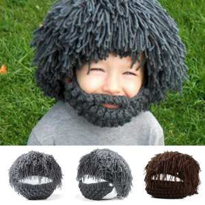 bf4acb47046a Favolook Hats Winter Knit Warm Caps Funny Mask Beanies Kid