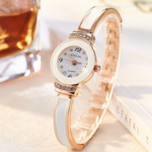 купить New Fashion Elegant Watch Women Luxury Brand Rose Gold Bracelet Wrist Watches Woman Analog Quartz Clock Ladies Watch kol saati дешево