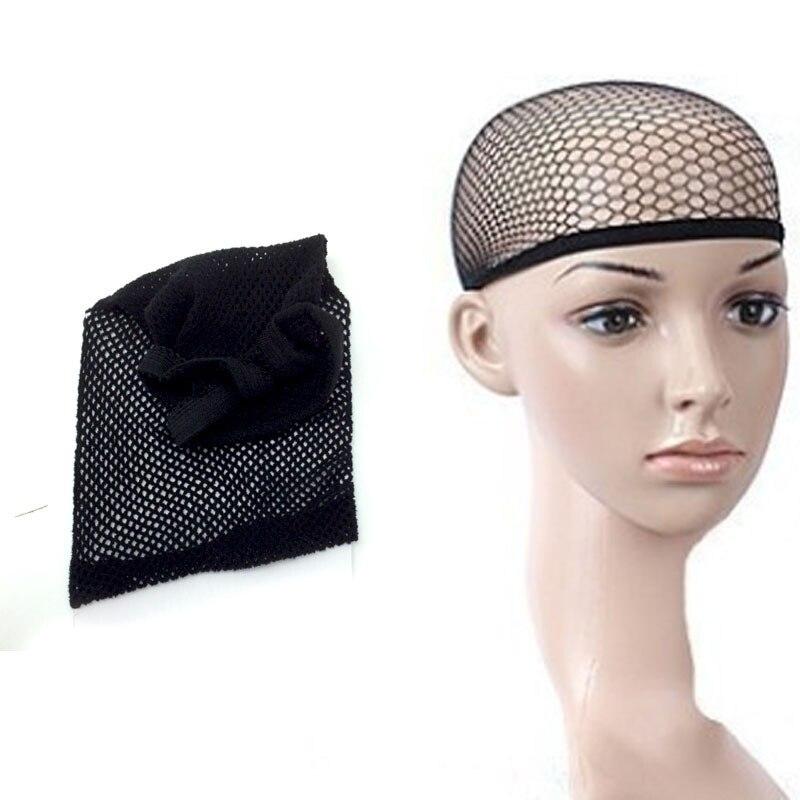 5 unids Unisex Negro de Malla Invisible Redecillas Cap Peluca Elástico  Estirable Redecilla Del Pelo Nets