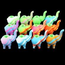 Новый в форме слона шаблон силиконовые табачные трубы силиконовые курительные трубы против стеклянные трубки для курения стеклянные пузырьки курительная трубка