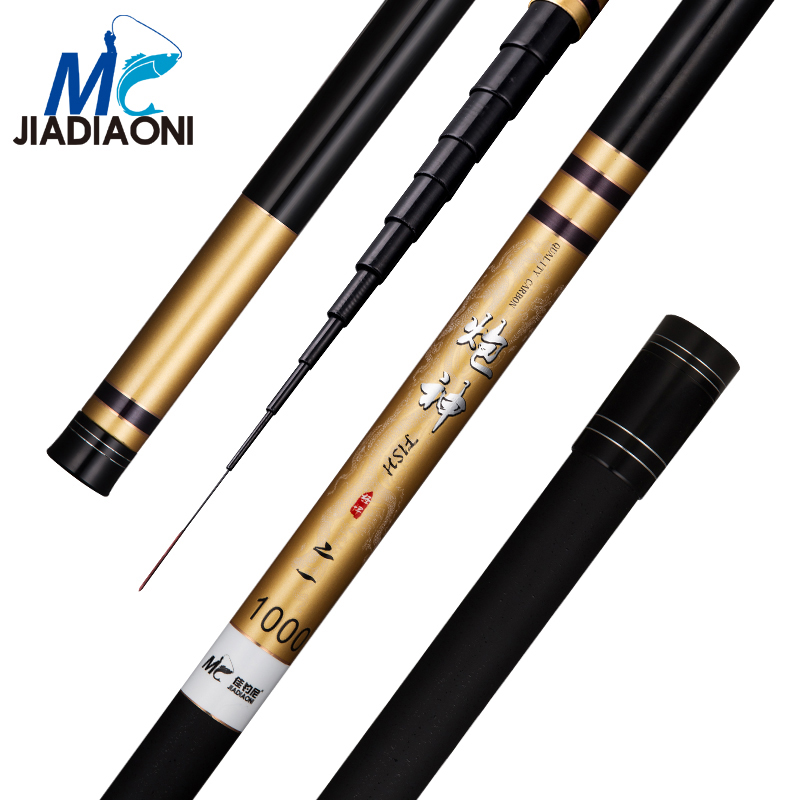 JIADIAONI 8m/9m/10m/11m/12m/13m Carbom Long Taiwan Fishing Rod Telescopic Fly Carp Fishing Pole Fishing Tackle jiadiaoni carbon fiber 3 6m 4 5m 5 4m 6 3m long telescopic spinning carp fishing rod ice fly fishing fishing rod fishing tackle