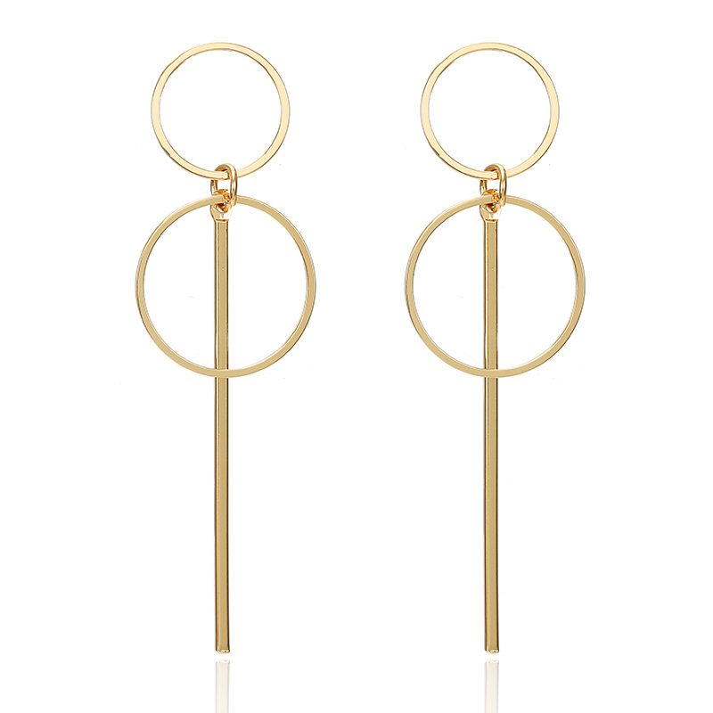 New Gold Metal Earrings For Women Girls Round Geometric Earrings Indian Brincos Accessories Female Vintage Circle Earrings 2019 5