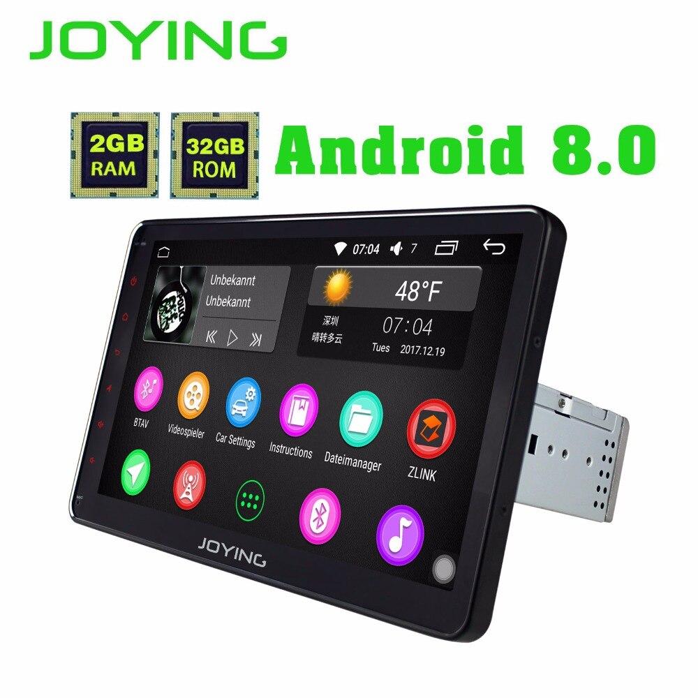 UE STOCK livraison gratuite 2 GB RAM unique 1 din 10 pouce plein écran tactile Android 8.0 Voiture GPS FM Radio Stereo head unité Médias lecteur