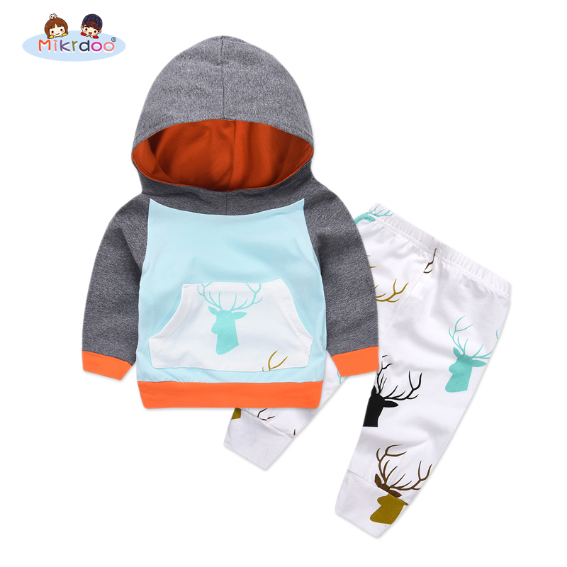 2018 casual Christmas Girl Boy New Years Costume Baby Clothing Newborn Overall baby sport Set Deer Print Pants Toddler Suit