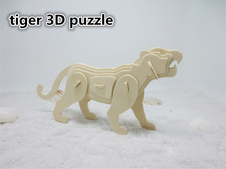 1set DS260 Ferocity Tiger 3D Puzzle Environmental Wooden Jigsaws for Children and Adults Take a Holiday Free Shipping Russia