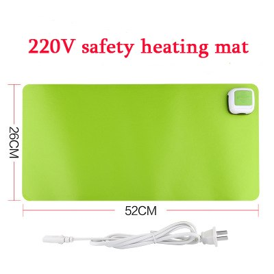 Confident 220v Winter Heating Office Mousepad Laptop Keyboard Mat Waterproof Gaming Mice Heater Warmer Heated Pu Leather Mats 26*52cm