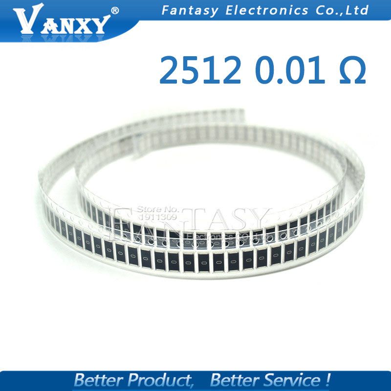 50PCS 2512 SMD Resistor 1% 1W 0.01R 0.01 Ohm 10mR R010