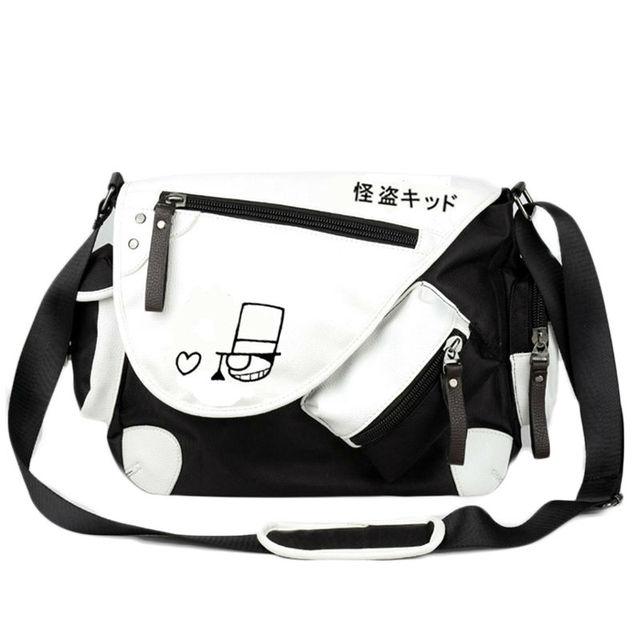f334f2524071 Anime Detective Conan Shoulder Bag Cartoon Crossbody Bag Teens Boys Girls  School Bags Cool Travel Messenger Bag