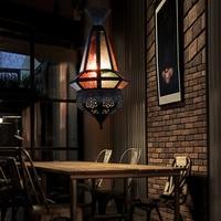 Человек Кофе Средиземноморье марокканский лампы творческий ретро бар Интернет Cafe витражи подвесные лампы освещения