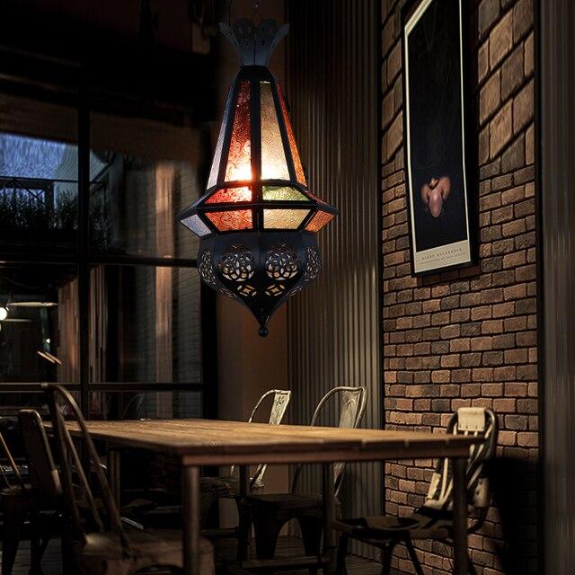 man coffee mediterranean moroccan lamps creative retro bar bar