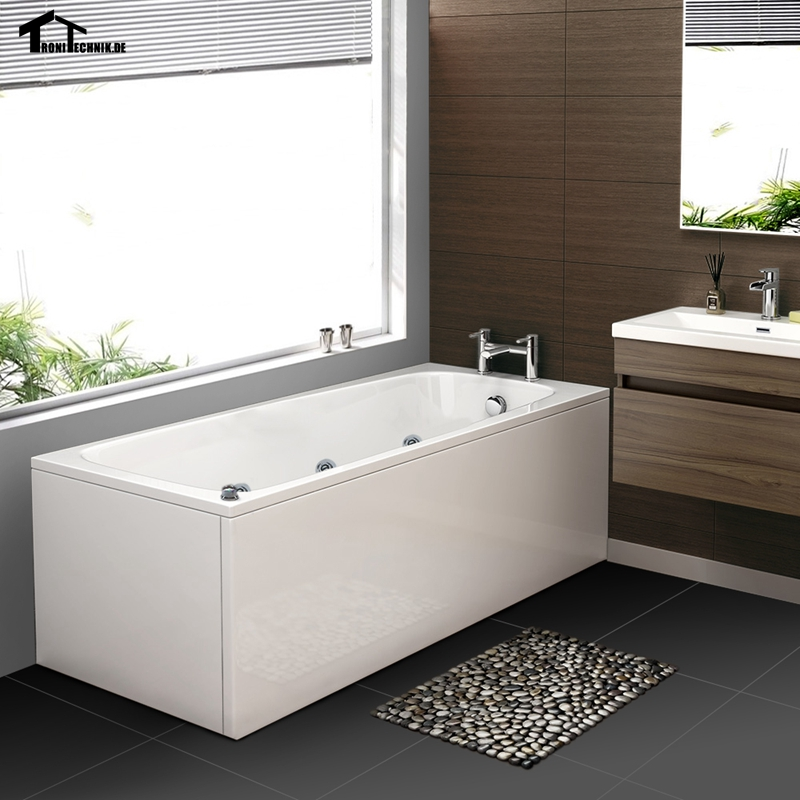 1700mm whirlpool Baths Hot tub Bathtub Single Straight bath 9 jets ...