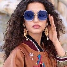 2019 Ladies Retro Square Sunglasses Brand Trend Men and Women Gradient UV400 Glasses