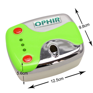 Image 2 - OPHIR 0.3mm Nail Art Airbrush Kit with Air Compressor 12 Color Inks 20 Airbrushing Stencils & Bag & Cleaning Brush Nail Tool Set
