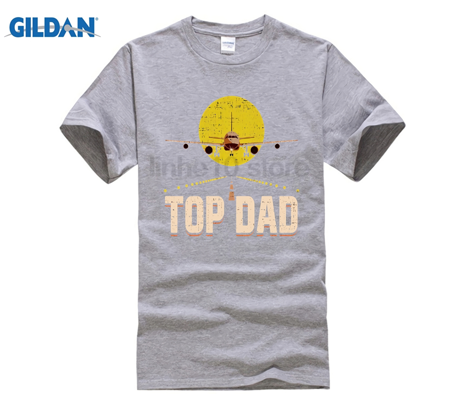 GILDAN 2018 Newest Letter Print Novelty Mens Brand Clothing Fathers Day Airplane Pilot Custom Printed summer dress T-shirt