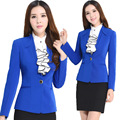 Womens Suits Blazer with Shirt and Skirt Office Uniform Designs New 2016 Women Business 3 piece Set Female Skirts Suit