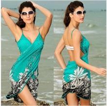 Wrap Pareo  Towel Open-Back Swimwear 2019 Women Beach Dress Sexy Sling Beach Wear Dress Sarong Bikini Cover-ups недорого