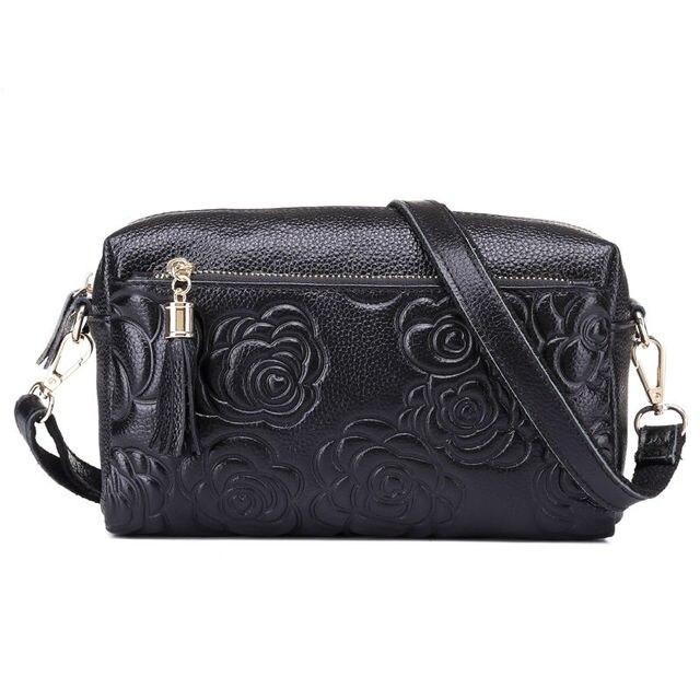 5ca447d666a8 New Women Pattern Evening Bag Genuine Cow Leather Embossing Wristlet Coin  Purse Bags Shoulder Messenger makeup