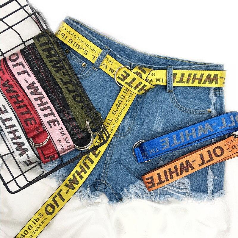 Neue 7 Farbe Punk Luxus Designer Mit Mann Hochwertigen Männliches Rock Frauen Jeans Hip-Hop Gelb Nylon Gürtel