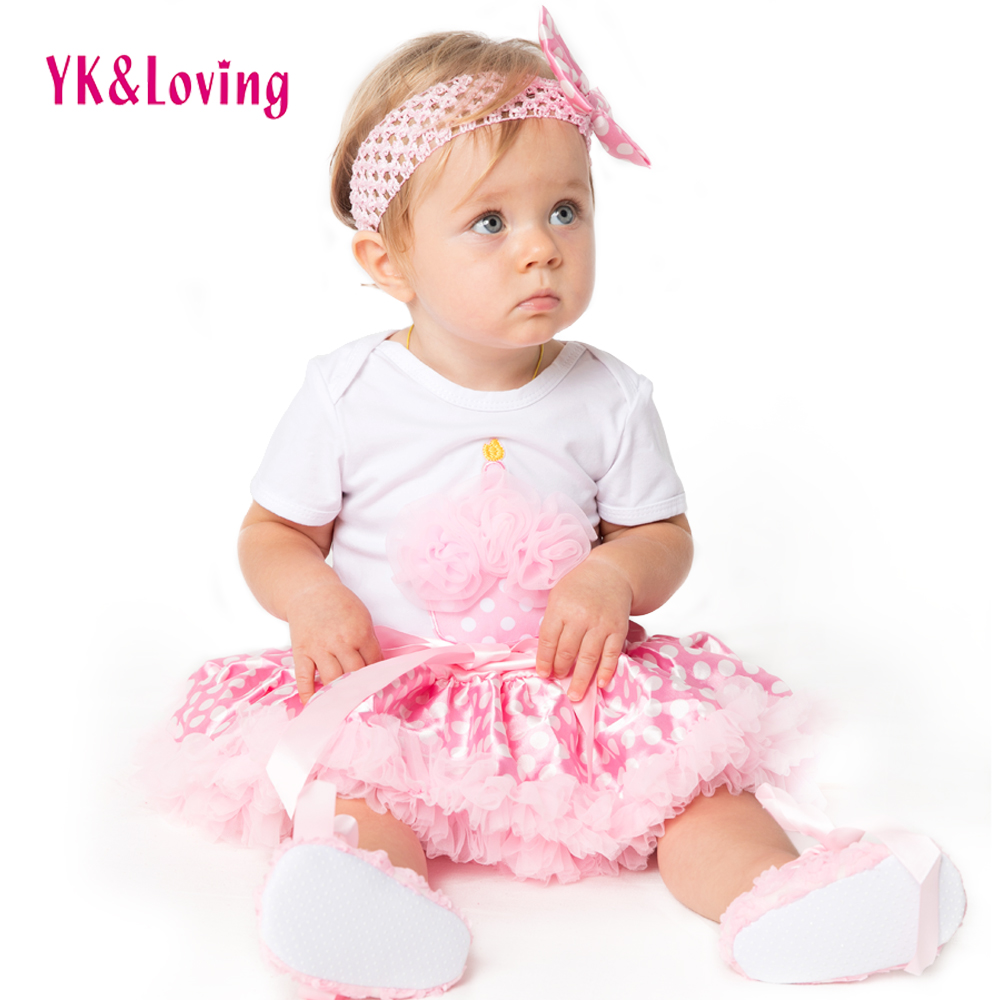 Baby Girl Clothes Sets 2019 Summer 100% Cotton Romper Pettiskit TUTU Skirts Infant Newborn Party 1 Birthday Clothing Sets F5015