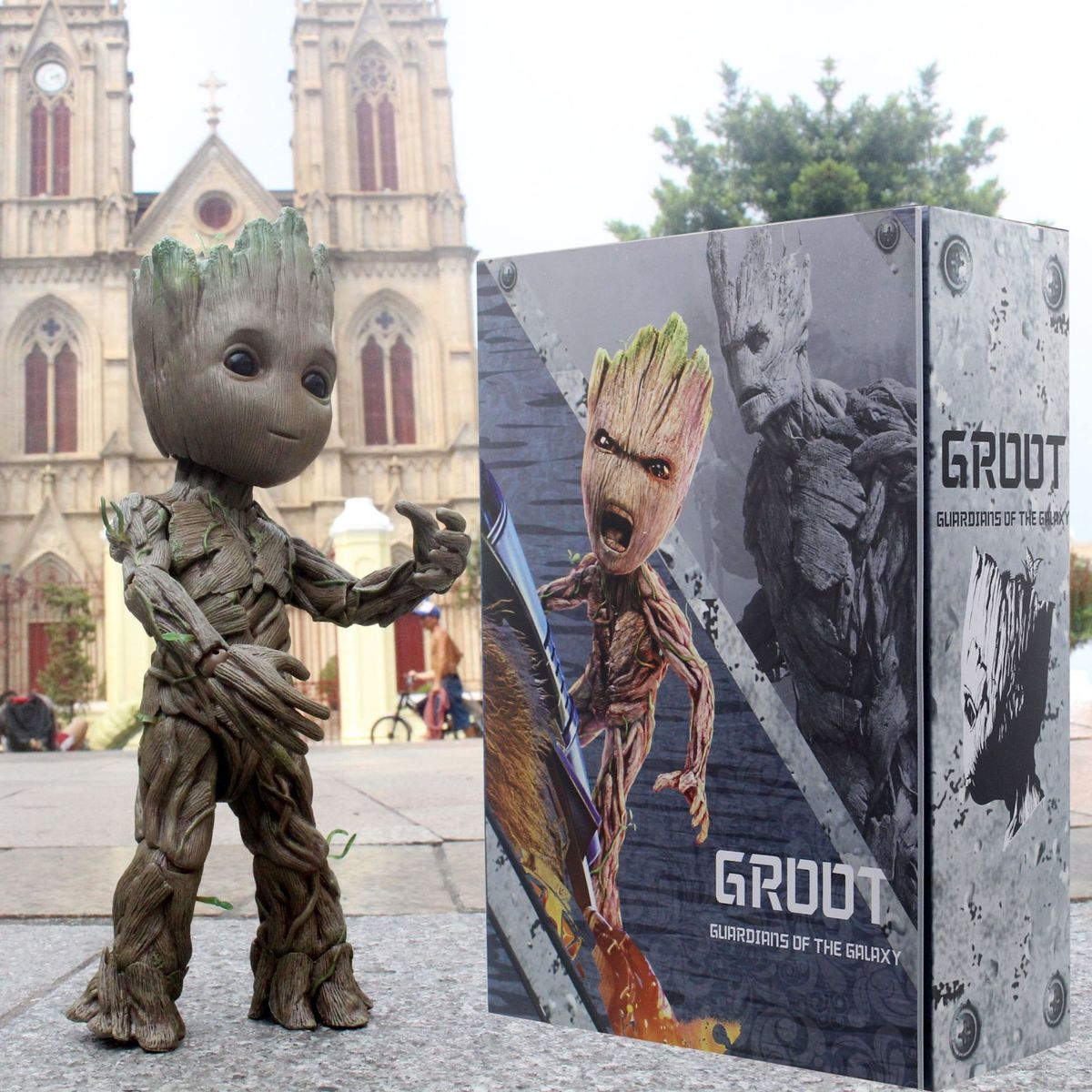 цены LMS005 Groot Small Tree Man Model HT1:1 DOLL Action Collectible Statue Toy Figure
