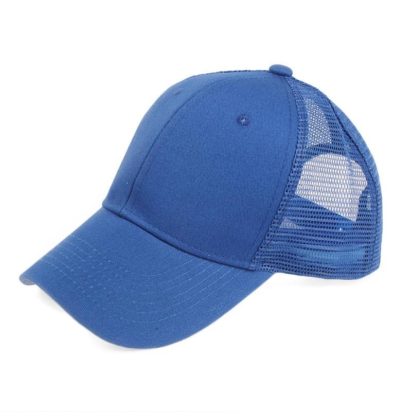 450ed0b488c Woman Ponytail Messy High Bun Hat Ponycaps Adjustable Cotton and Mesh  Trucker Baseball Cap Teenager Girl AA10046