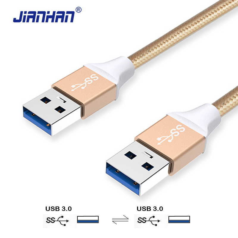 купить Usb to Usb Cable Type a Male to Male Usb 3.0 Fast Extension Cable Super Speed HDD for Radiator Hard Disk Webcam Car MP3 Camera по цене 57.4 рублей