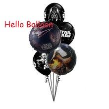 5 pçs/lote Star Wars Globos de Balão Balão de Festa de Aniversário Decoração Suprimentos Preto Star Wars Brinquedos Para Crianças
