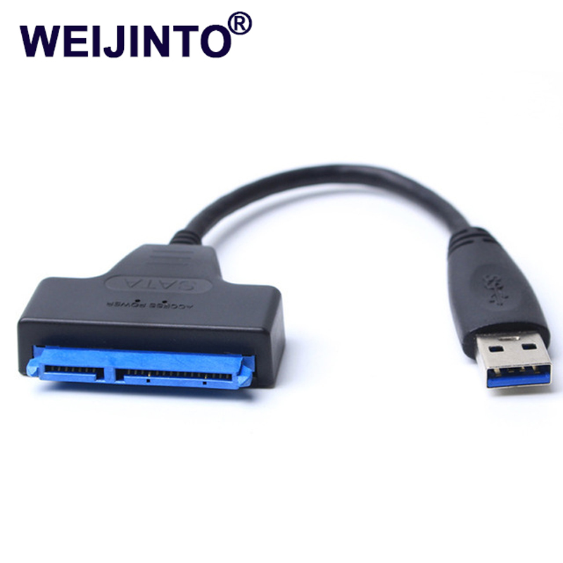 "USB 3.0 to Sata adapter converter cable 22pin sataIII to USB3,0 adapters for 2.5"" sata HDD SSD(China)"
