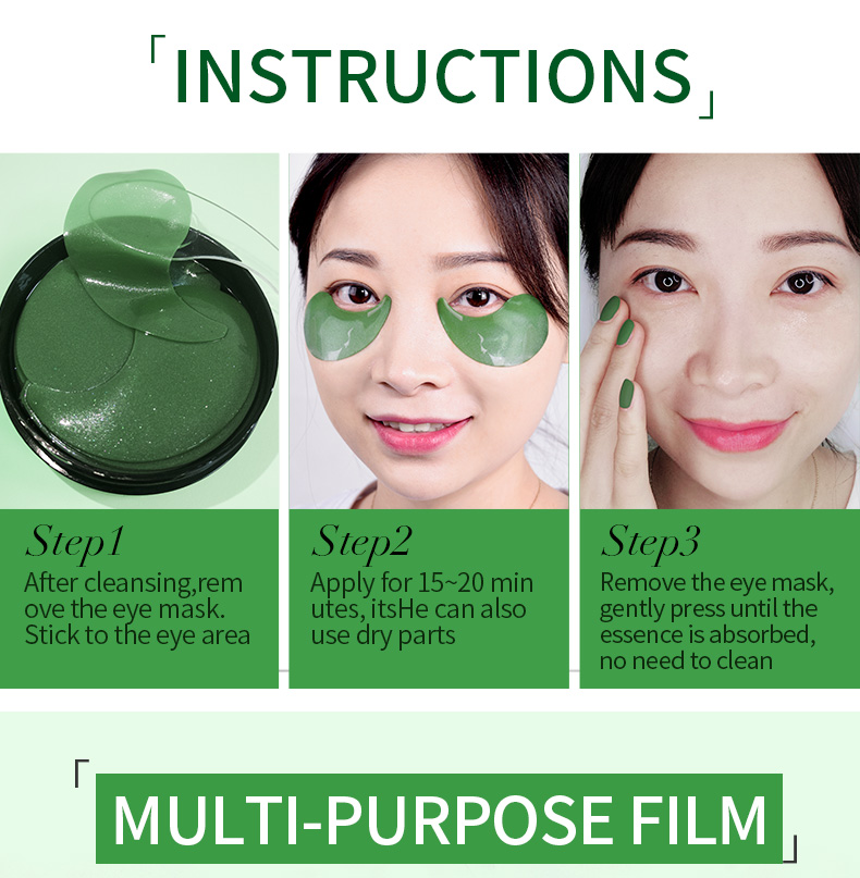 SHVYOG 60pcs Anti Wrinkle Eye Patches Mask Crystal Collagen Under the Eyes Sleep Mask Remove Dark Circles Hydrogel Patch