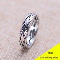 925 пробы Серебряное Ретро мужское тайское серебрянное кольцо, хорошее ювелирное изделие, подарок для влюбленных, развевающееся кольцо на па...