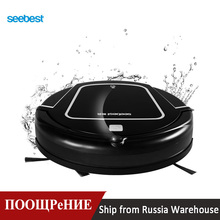 Seebest D730 MOMO 2.0 Wet Mopping Robot Vacuum Cleaner with Water Tank, Clean Robot Aspirator Time Schedule, Russia Warehouse seebest a6 intelligent floor mopping robot with gps navigator planned clean route wet and dry mopping with water tank