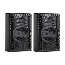 Plastic Playing Card 2Packs Black Poker Cards Waterproof Durable  Gift Glod Game