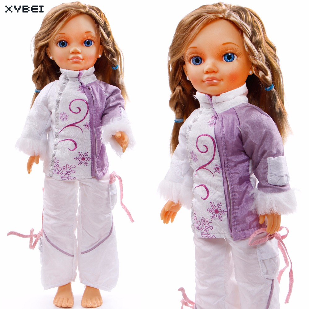 Fashion Winter Outfit White Down Jacket High Collar Coat Trousers Pants Clothes For Nancy Doll 16 Puppet Accessories Gift Toys 30 new styles festival gifts top trousers lifestyle suit casual clothes trousers for barbie doll 1 6 bbi00636