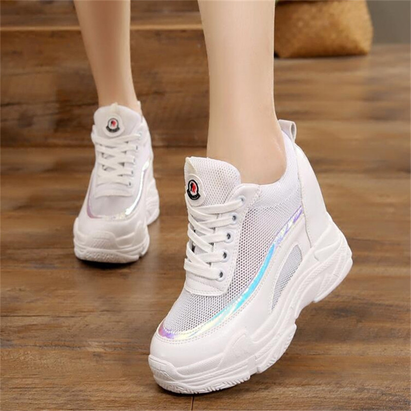 479d69e1bd4c3d ... Dad White Woman Up Sneaker Fashion New 2018 Clunky Mesh Women s Lace  Casual Women Footwear Brand ...