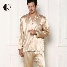 Pajama людей прибытия шелковый новых наборы & пара лето повседневная пижамы
