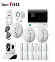 SmartYIBA 433 mhz Hause Einbrecher G90BPlus Drahtlose GPRS SMS WiFi GSM Alarm System Kit Touch Tastatur IOS Android APP Remote control|Alarm System Kits|   -
