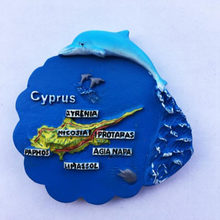 1 Pcs Cute Cyprus Dolphin map Fridge Magnet Toursit Souvenirs Refrigerator Magnetic Stickers Home Decoration(China)