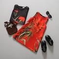 Летние дети дизайнер новый 2015 платья WL муссон жаккардовые цветок девушка vestidos infantil ребенок без рукавов бренд одежда сарафан